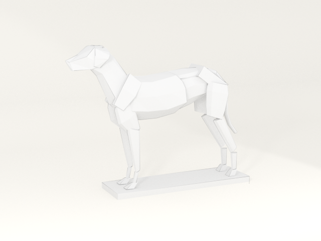 rendered dog