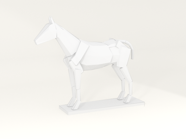 rendered horse