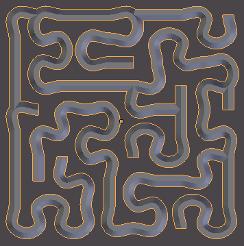 smoothed bevelled maze path