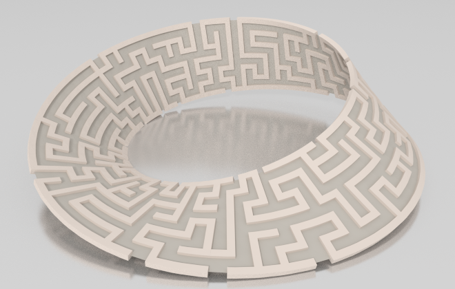 Maze any Mesh in Blender - Look Think Make